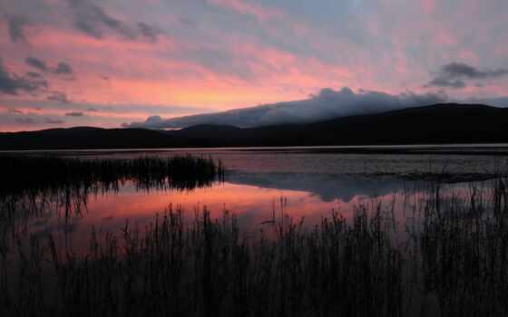 вечер, озеро