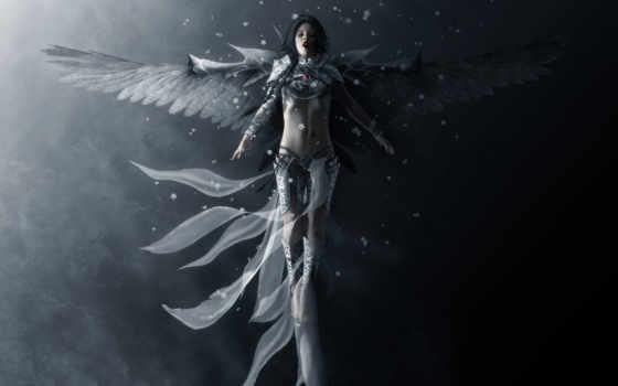 angel, девушка, крылья