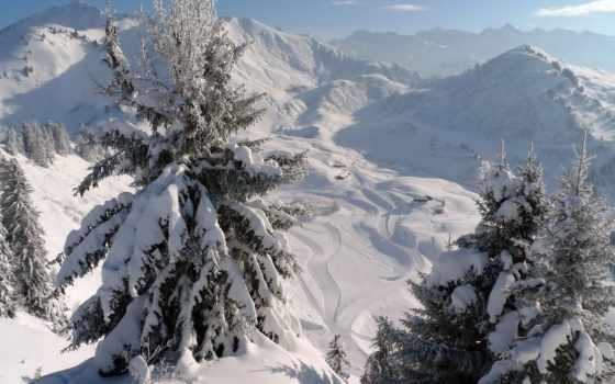 góry, szczyty, zima, drzewa, pulpit, pinterest, pin,
