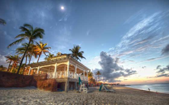 пляж, море, bahamas, пальмы, песок, острова, багамские, house, ocean, побережье,