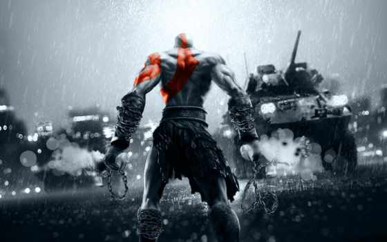war, god, kratos, battlefield, blade, china, exile, battefield, confront, танк,