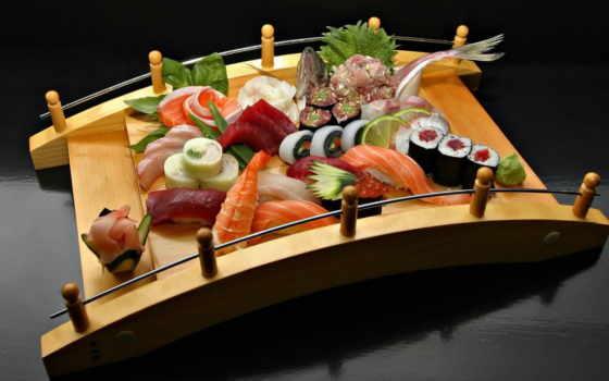 еда, sushi, красиво, табличка, напитки, ассорти,