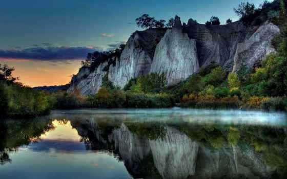 природа, озеро, горы, фоны, заставки, небо, спокойные, изображения, красивые,
