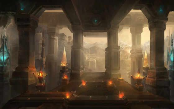 колонны, пейзаж