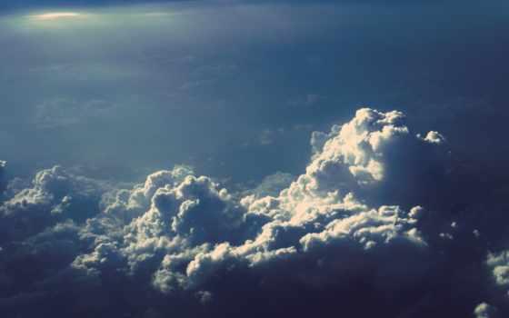 облака, небо, клубы, пар, картинка, картинку,
