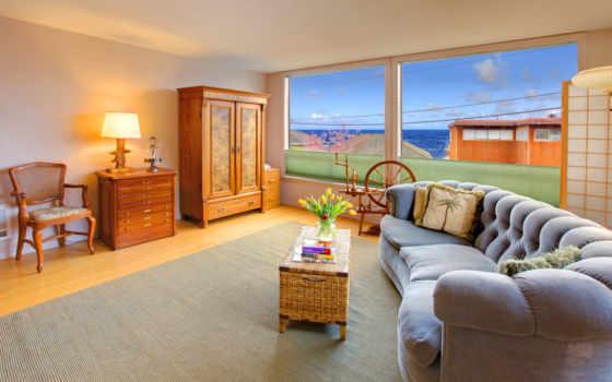интерьер, комната, лампа, картинка, design,
