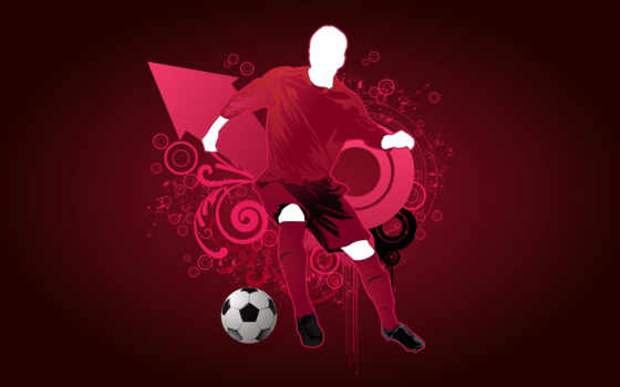 futebol, parede, papel
