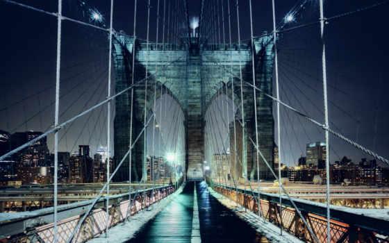 бруклин, мост, york