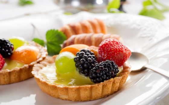 торт, фруктовое, еда, spoon, клубника, макро,