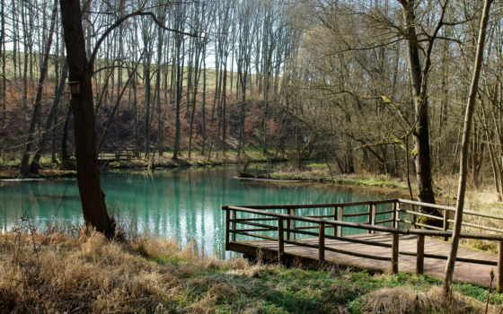 landscape, озеро, горы, пруд, весна, пейзажи -, листва, крыша, дерево, lodge, water,