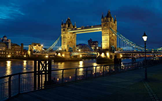 великобритания, london, башня, англия, мост, ук, thames, город,