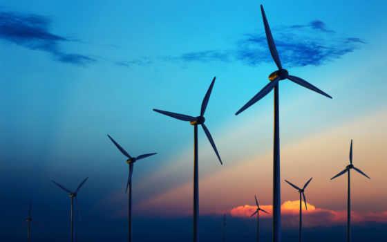 ветер, турбина, blade,, turbines, ветряк,