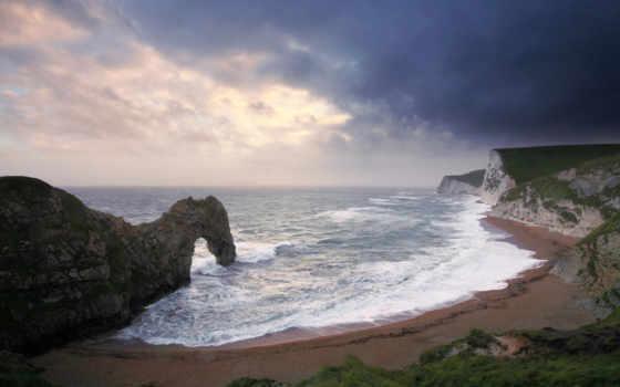 море, скалы, арка