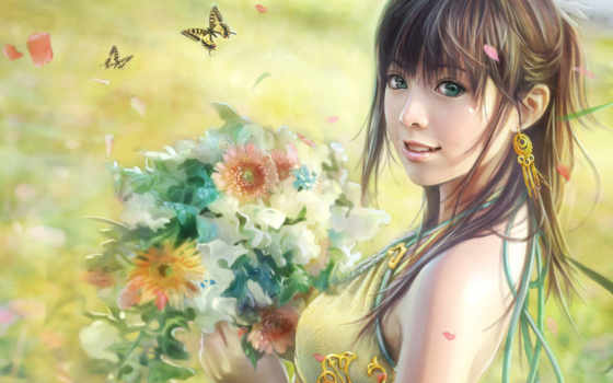 anime, красивые, девушки