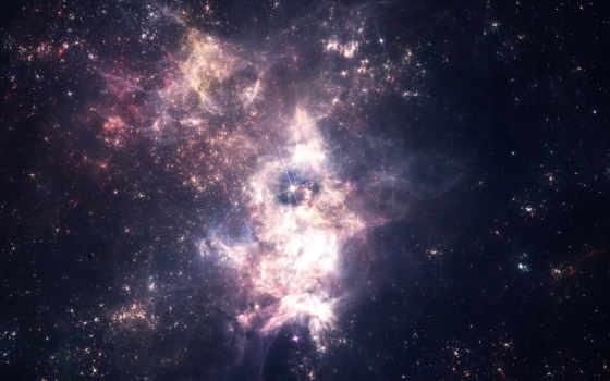 космос, звезды, nebula, скопление,