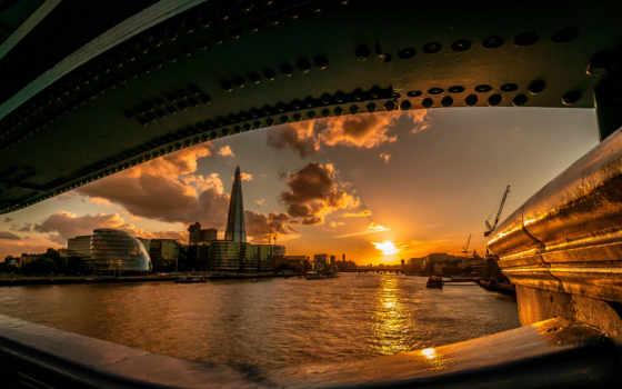 london, sun, река, мост, закат, англия, глаз, pinterest, об,