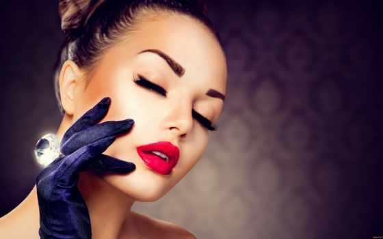 labios, красоты, rojos, mujer, las, зодиака, con, слуцке, del, maquillaje,