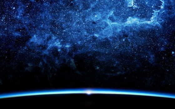 cosmos, космоса, quasar, звезды, фотографий, путешествия, высокого, синева,