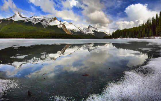 national, park, канада, jasper, гора, альберта, winter, fond, one, season