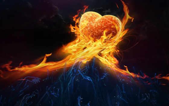 fire, heart