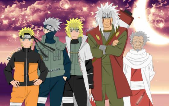 naruto, хокаге, yondaime, anime, fourth, качестве, базе, высоком,