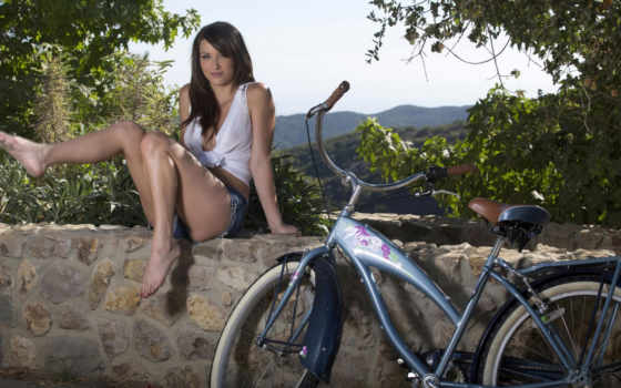 ножки, bike, девушка