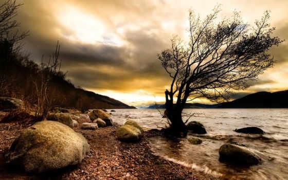 природа, река, darkness