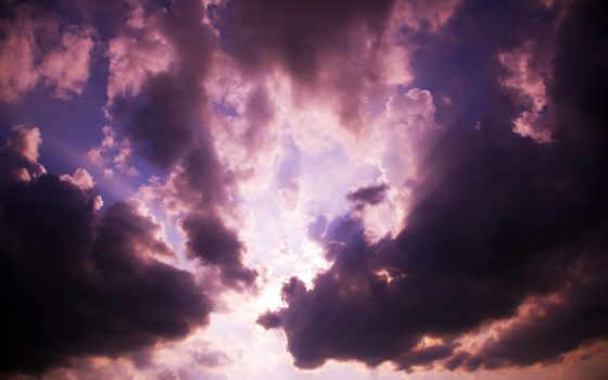 piosenki, chmury, ciemne, pin, пл, niebo,