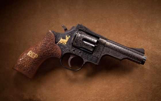 , оружие, revolver, резьба,