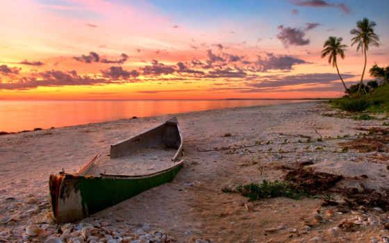 goa, море, закат, пляж, песок, ocean, лодка, canoe, природа,