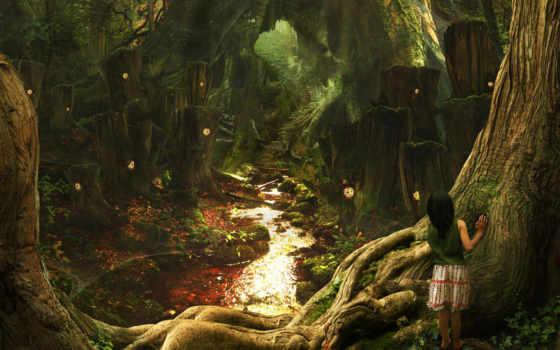 лес, девочка