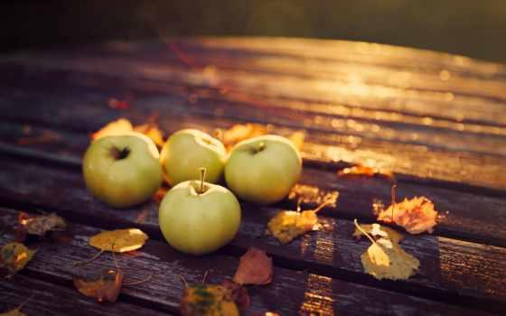 яблоки, осень