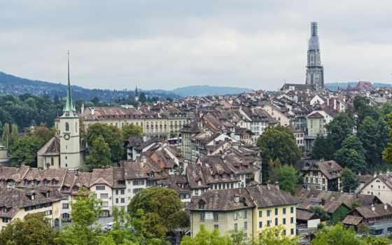 берн, швейцария, панорама