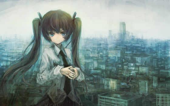аниме девушка с хвостиками