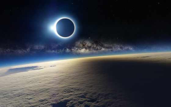 затмение, облака, солнце, планета, картинка, space, луна, блик, солнечное, картинку, you, solar, земля,