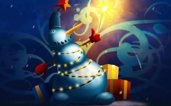 christmas, snowman Фон № 31433 разрешение 1600x1200