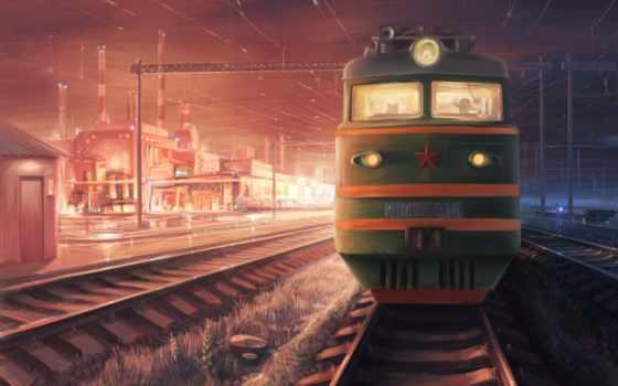 дорога, железная, поезд Фон № 59045 разрешение 1920x1200