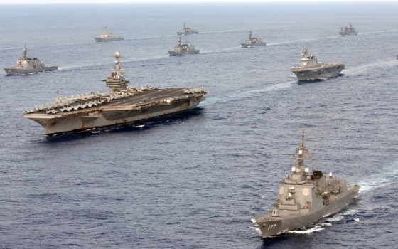 корабли, море, оружие