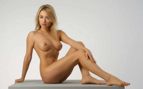 , поза, эротика, блондинка, секси, голая, ножки, грудь, сиськи