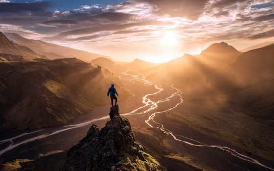 мужчина, горы, макса, природы, вершины, тоже, fone, их, масштабностью, кажется, сравнении,