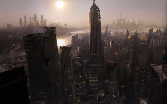 город, разруха, города, york, небоскребы, катастрофа, нью,
