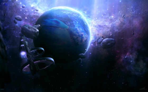 корабли, планета