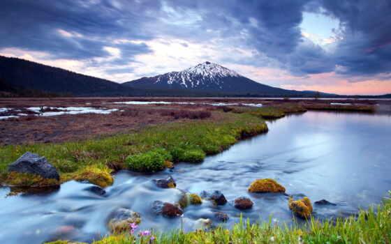 горы, река, landscape