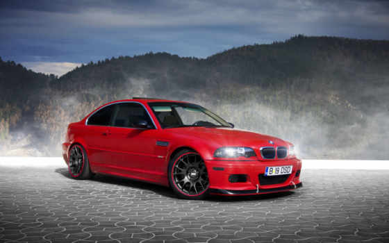 bmw, red, bbs