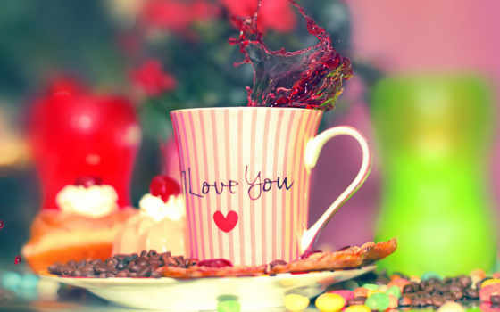 love, you, cup