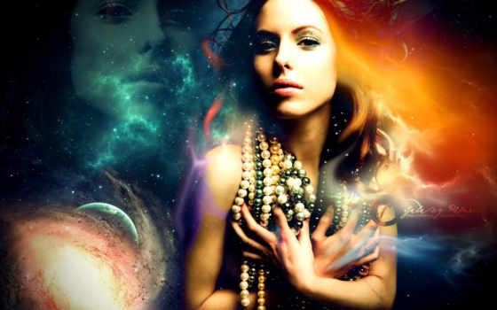 девушка, cosmos, бусы