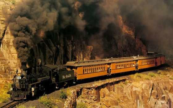 pociąg, tapety, czarny, дым, węgiel, pulpit, znajdziesz, parowy, lokomotywa,