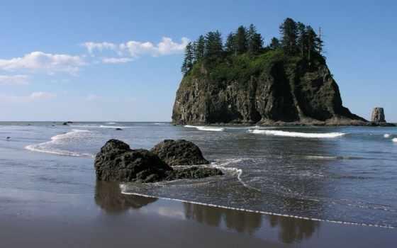 пляж, природа, park