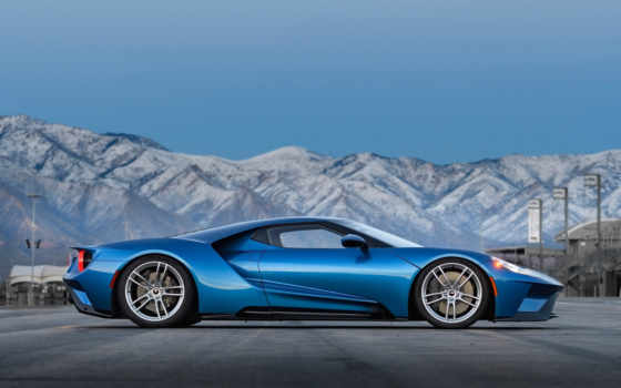 ford, blue, суперкар