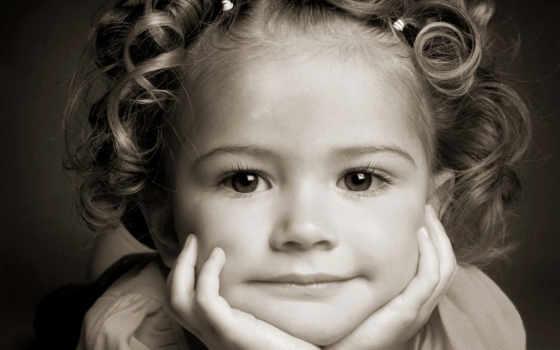 лицо, девушка, свет, portrait, волосы, ребенок, улыбка,